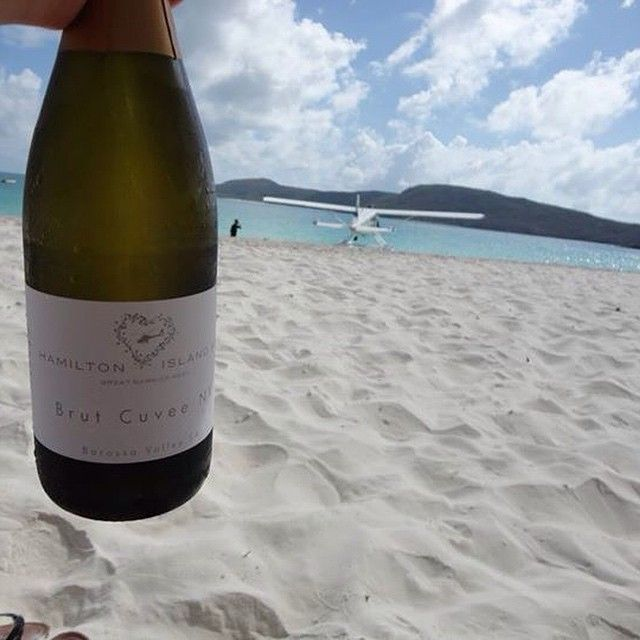 Flying to Whitehaven Beach on seaplane followed by Champagne on the sand defines luxury! Image by sara_jane3 via IG #thisisqueensland