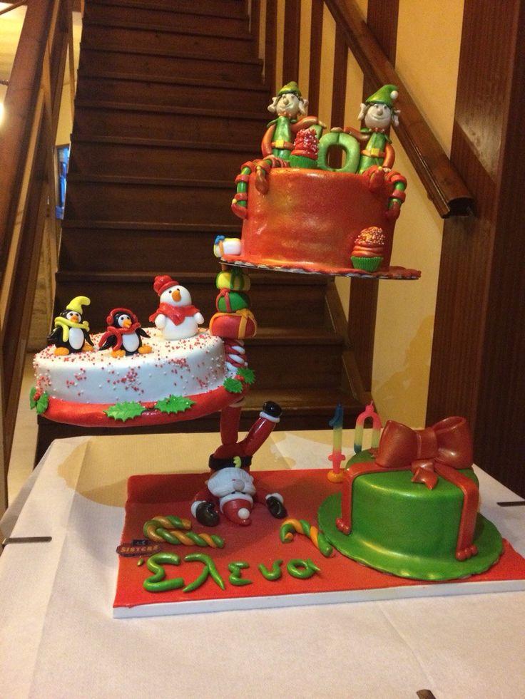DEFYING GRAVITY XMAS CAKE!