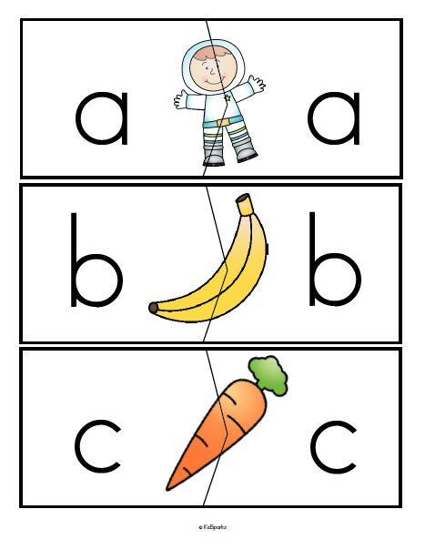 ***FREE*** Alphabet lower case with lower case letters puzzle match-ups, full alphabet.