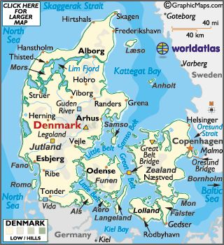 map of Denmark  Have been here.