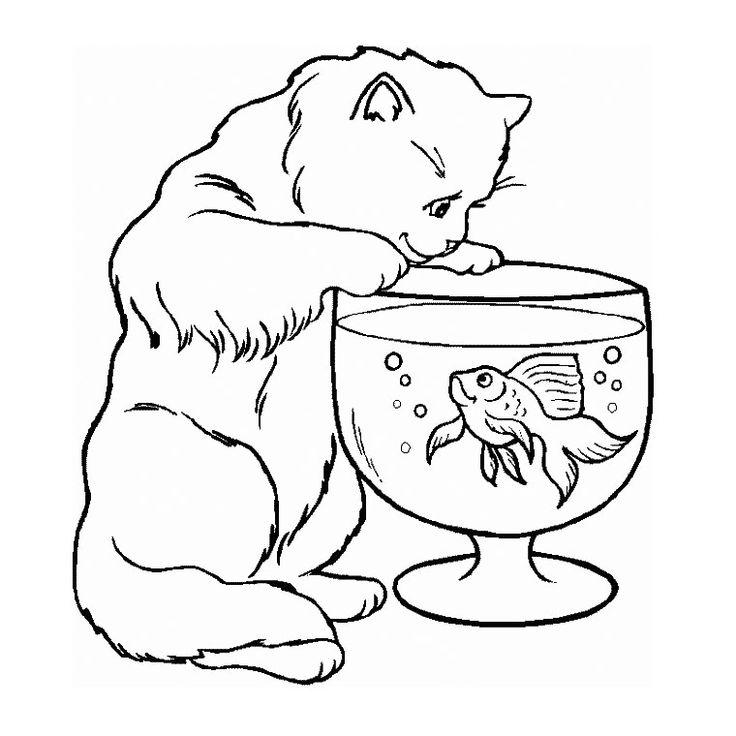 воскресенье кот ворюга картинка для разукрашивания регулярно