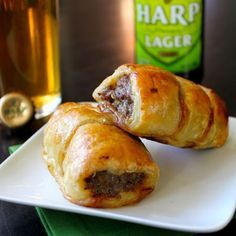 Irish sausage rolls --- I definitely think we would like this (maybe even better than corned beef and cabbage)!