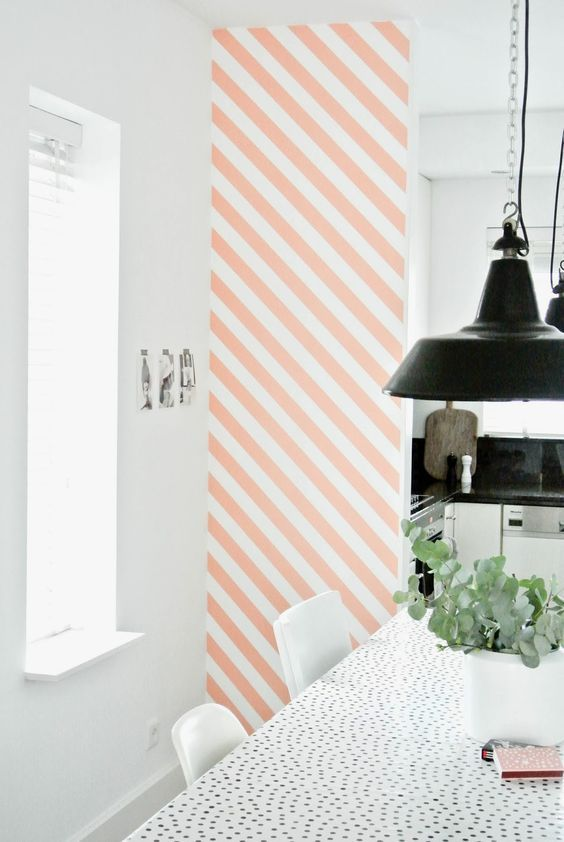 Via NordicDays.nl | Pink accents in white Scandinavian homes