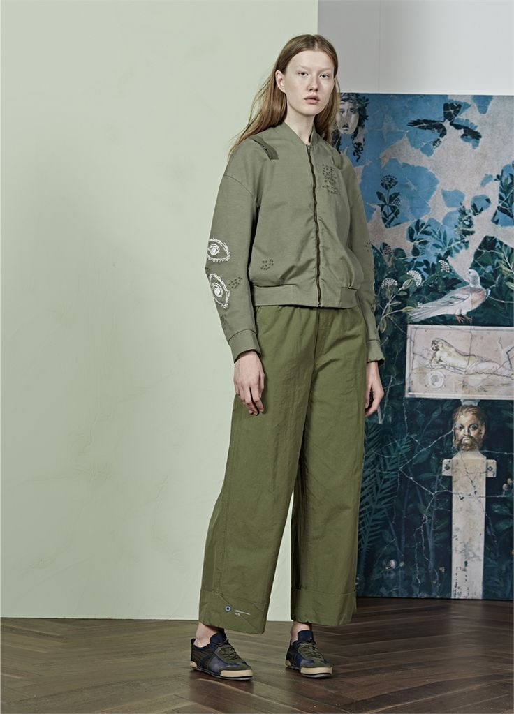 JNBY 2017 SS Collection #Spring #collection #fashion #coat #jacket #embroider #LeisurePants #greengrey