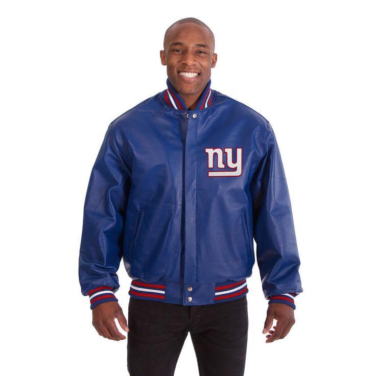 New York Giants JH Design Leather Jacket - Royal
