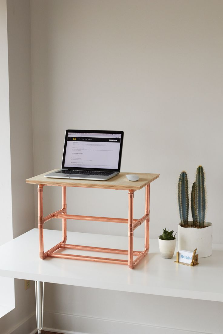 How to Make a Stylish Standing Desk Riser | Man Made DIY | Crafts for Men | Keywords: sponsored, office, desk, metal