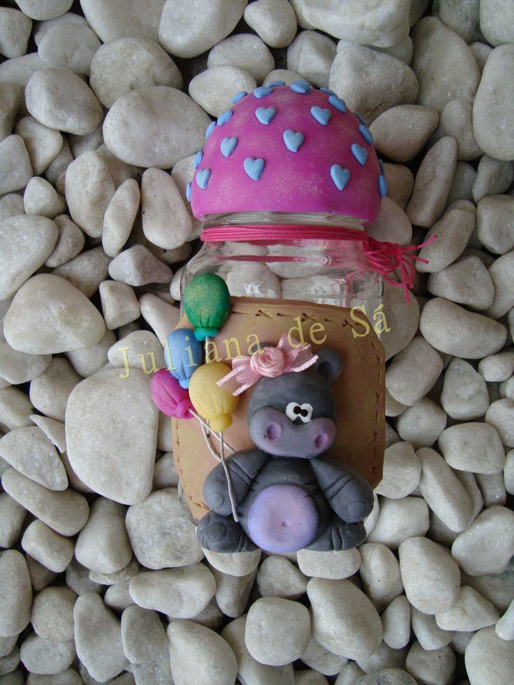 Pote biscuit com pintura-Ateliê Juliana de Sá e-mail: julianah.sa@hotmail.com