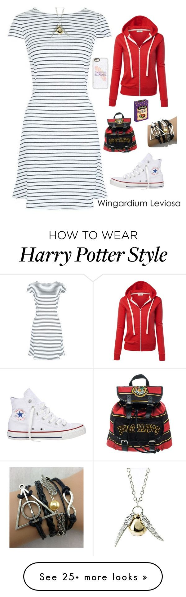 """""""Wingardium Leviosa"""" by sarahlynnmurphy on Polyvore featuring Converse, Quiksilver and Casetify"""