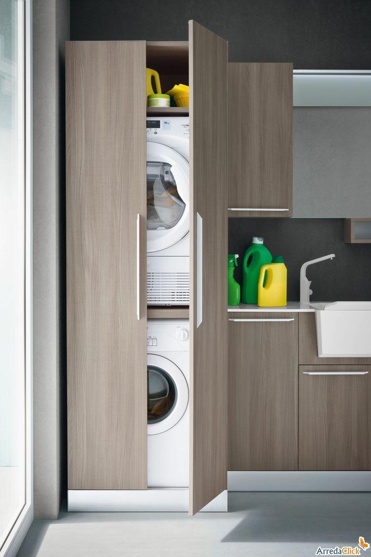 Oltre 25 fantastiche idee su ripostiglio lavanderia su - Lavatrice altezza 75 ...