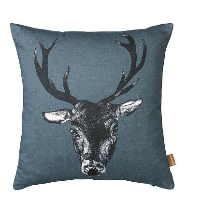 Stag Cushion ~ Teal