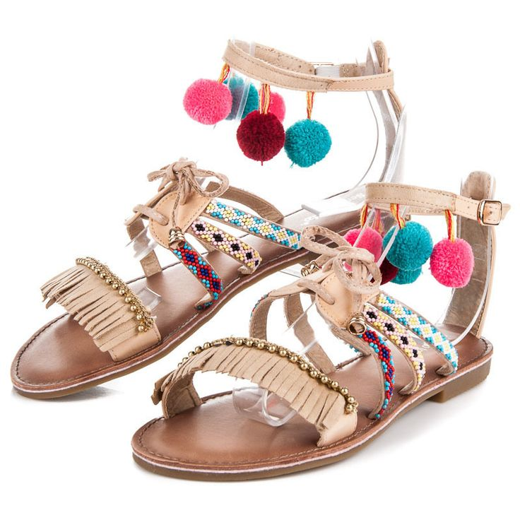 Flat sandals boho Extremely adorable seemed to be in the summer. The flat sole provides comfort in any situation, while trendy tie and colorful pompoms and tassels will make your look stylish and consistent with the latest trends. https://www.cosmopolitus.com/plochE-sandAly-boho-odstiny-hnede-bezove-t161be-p-247717.html?language=en&pID=247717 #Boho #sandals #pom #poms #stylish #stylish #tied #flat #summer #cheap #comfortable