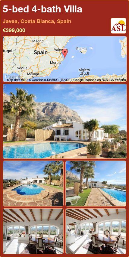 5-bed 4-bath Villa in Javea, Costa Blanca, Spain ►€399,000 #PropertyForSaleInSpain