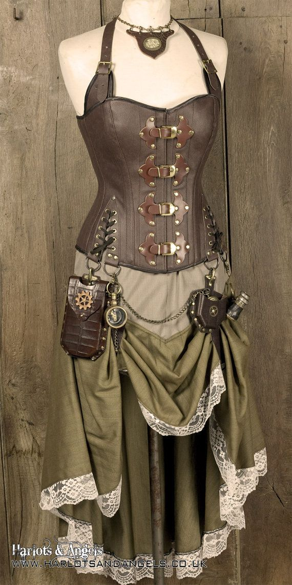 Victorian Wild west Steampunk Hitched Skirt. by Harlotsandangels