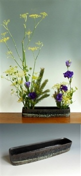 Japanese ikebana vase or suiban at www.Jcollectorcom
