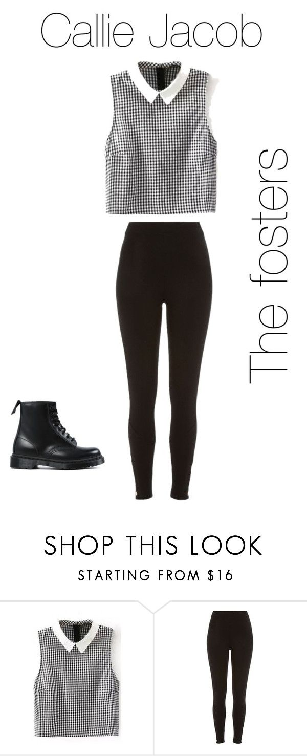 """Callie Jacob the fosters look"" by desiv2001 ❤ liked on Polyvore featuring River Island and Dr. Martens"