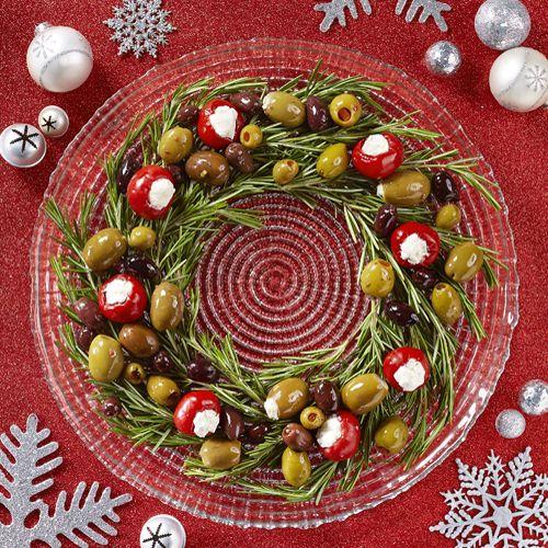 olive table wreath the pampered chef christmas treats pinterest lecker und rezepte. Black Bedroom Furniture Sets. Home Design Ideas