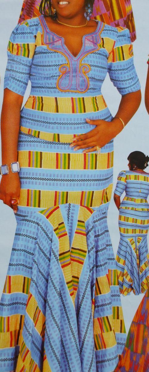 women african Kente attire 2pcs include a top and african Kente long skirt