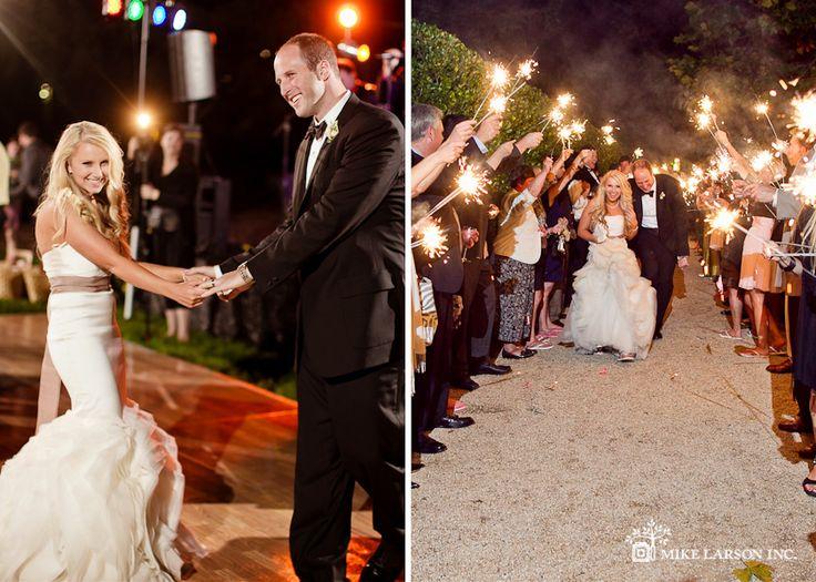 Megan & Jeff - Chateau St. Jean Wedding : Sparkler Exit & Dancing