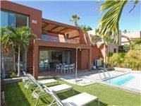 Modern designed 2 floor villa with beautiful views and pool.. The villa is bright and spacious, consisting of a living room, two bedrooms, two baths, a dining room, kitchen and a large terrace with outdoor seating and dining area.