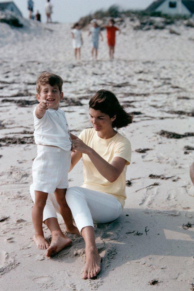 Jackie Kennedy on the beach