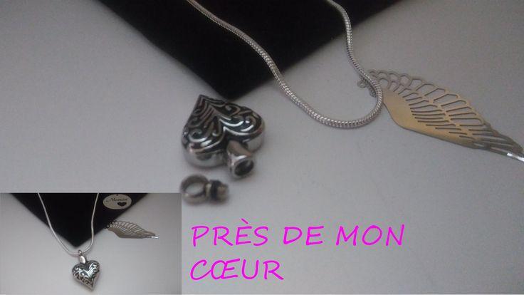 bijoux de crémation,acier inoxydable,coeur,aile d ange, de la boutique creationdorothy sur Etsy