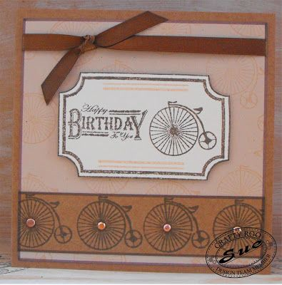 Great handmade card for any bloke. Made using Stamps from Crafty Roo Designs.