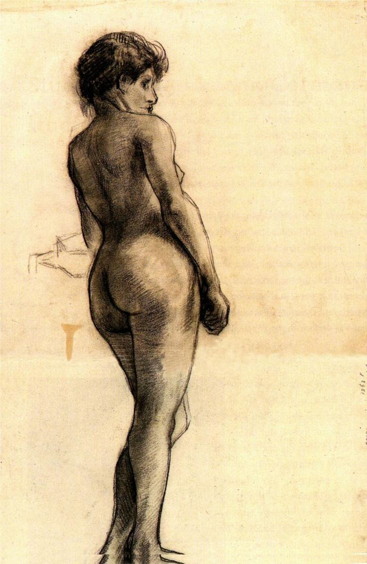 17 best images about vincent van gogh <3 amsterdam standing female nude seen from the back 1886 vincent van gogh