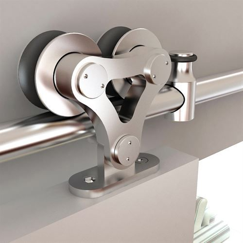 We're excited to introduce the Designer's Collection Rolling Door Kit - our newest solution for the cost-conscious buyer! The black powder-coated steel hardware has a versatile look that is perfect for any interior space and it's sturdy enough to support a loading weight of up to 225 lbs. We even offer parts for soft-close and bypass applications!  #VanDykes #RollingHardware #Designer #WhatsNew