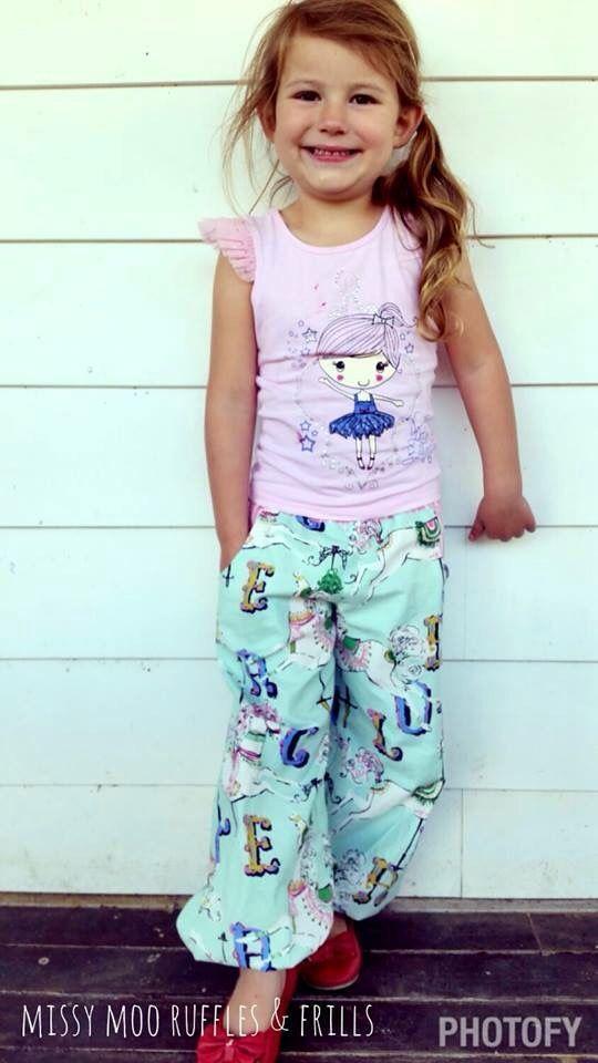 Made using the Pattern Emporium Kids Harem Pants pdf pattern