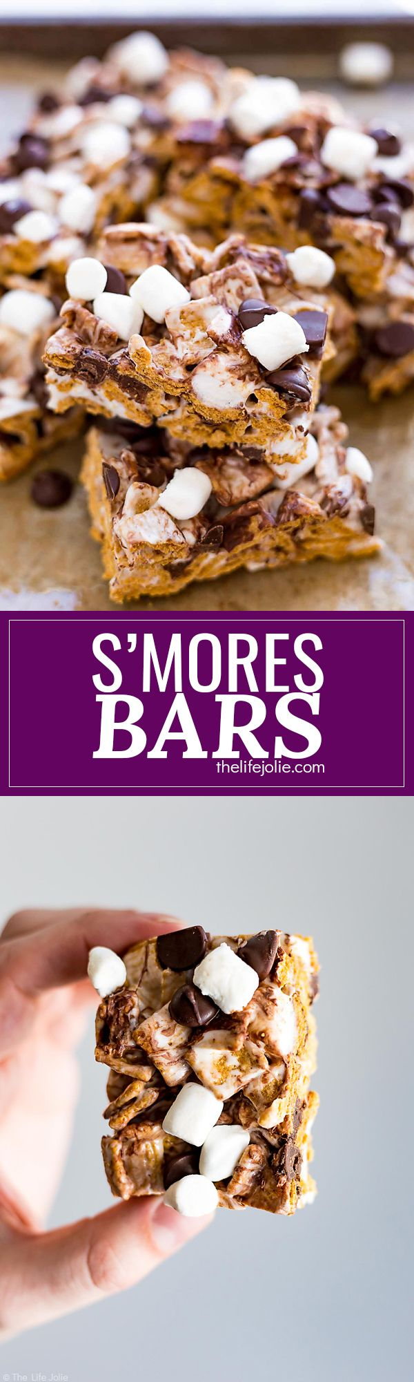 These S'mores Bars are one of the best easy recipes to throw together for a last minute party or get together. Made with Golden Grahams, marshmallows and chocolate chips, these are a great no bake dessert option that both kids and adults will love this summer!