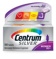 Product Labeling (including Supplement Facts) as stated and disseminated by http://www.centrum.com : http://www.centrum.com/centrum-silver-women-50-plus#