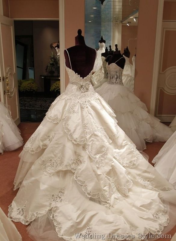 Eve of Milady Fall 2011 Wedding Dress Collection: Rococo Sleeping Beauty  - there's no holding back on the size of these dresses.