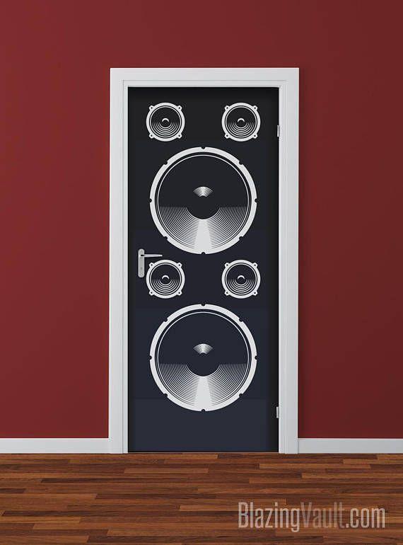 Audio Concert Speaker for Door Vinyl Decal Loud Music DJ Party