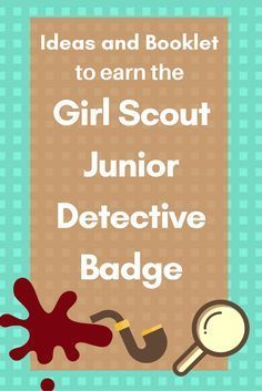 If you have a Junior Girl Scout Troop they will love this badge. The girls will complete 5 steps and follow clues and discover facts just like a real detective would. Today I will share a few easy ideas to get you started, or if your like me and rather have all the work done …