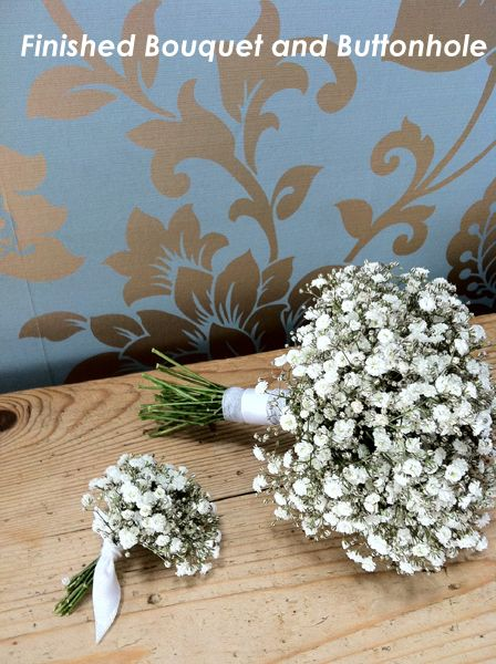 DIY Tutorial: Gypsophila Bouquet and Buttonhole