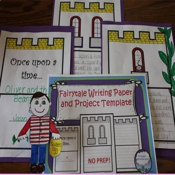"LOOK at the PREVIEW above! This template for fairytale or fractured fairytale writing by Primary Wonderland includes full sized pages of castles with writing lines and spaces for adding student drawings or photos. The title page includes the classic ""Once Upon a Time..."" while the other"