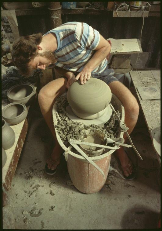 147186PD: Potters, Fremantle workshop, ca.1995.  http://encore.slwa.wa.gov.au/iii/encore/record/C__Rb4806258__Spotters%2C%20fremantle__Orightresult__U__X6?lang=eng&suite=def