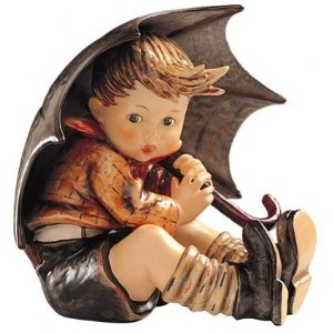 M.I Hummel Umbrella Boy Figurine