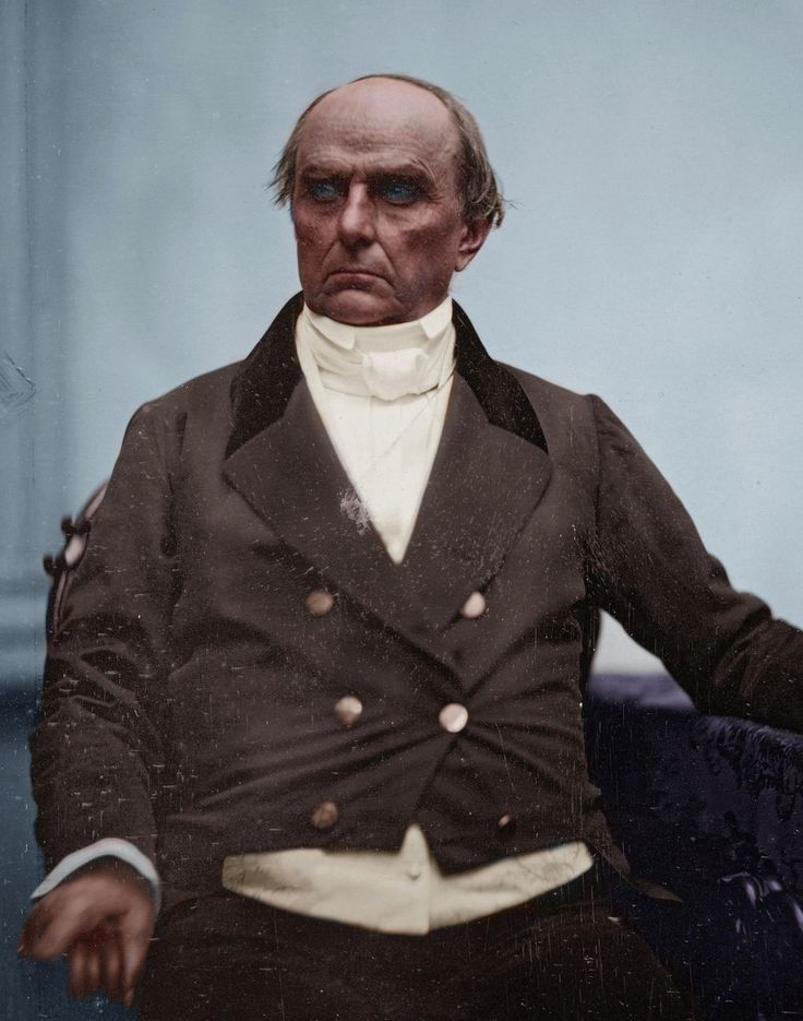 Daniel Webster an American politician who twice served in the United States House of Representatives representing New Hampshire and Massachusetts in the 1840s