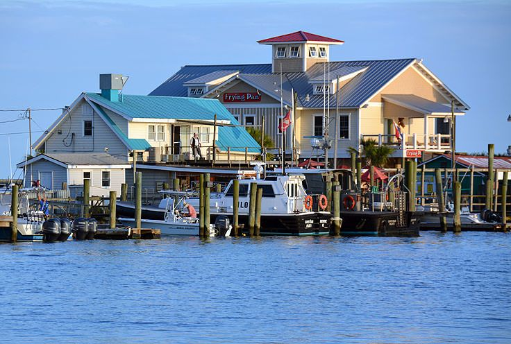 Waterfront restaurants serve fresh seafood in Southport, NC
