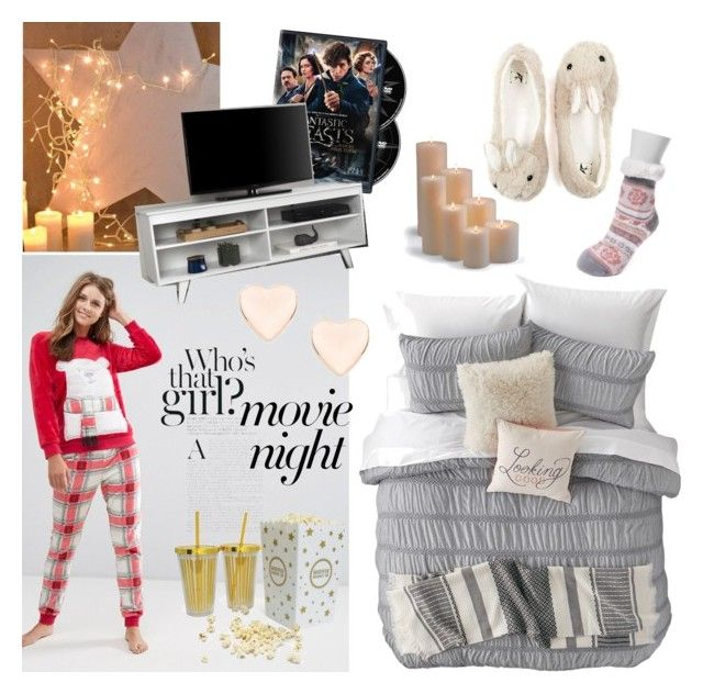 """""""movie night"""" by flie9enpilz on Polyvore featuring Loungeable, Muk Luks, Nordstrom Rack, Frontgate and Ted Baker"""