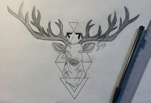 Tattoo geometric animals, black&White