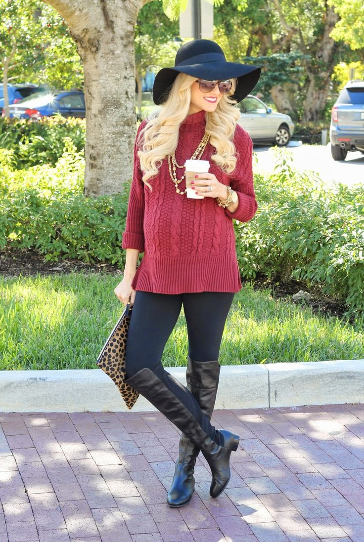 A Spoonful of Style: bordeaux cable knit
