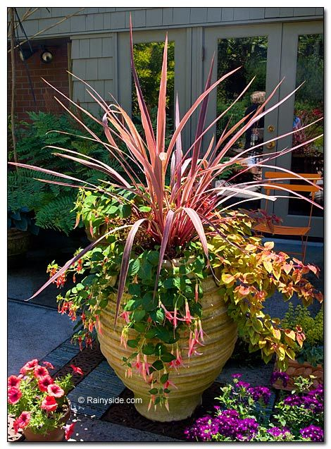 Ovoid ribbed garden pot by Dunn Garden of Seattle, WA.