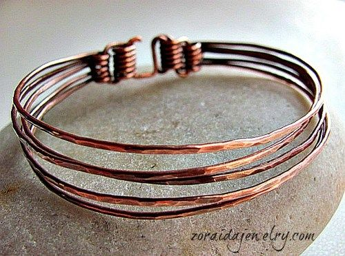 Five in One Copper Wire Bracelet  | zoraida - Jewelry on ArtFire