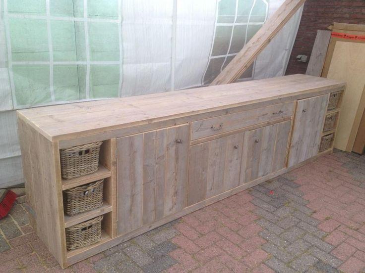 steigerhouten meubelen / buitenkast steigerhout/ dressoir steigerhout / maatwerk mogelijk