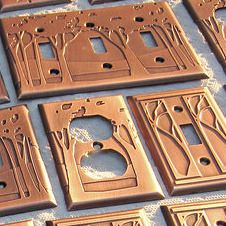 James Mattson Coppercraft -  switchplates -  The Mission Motif