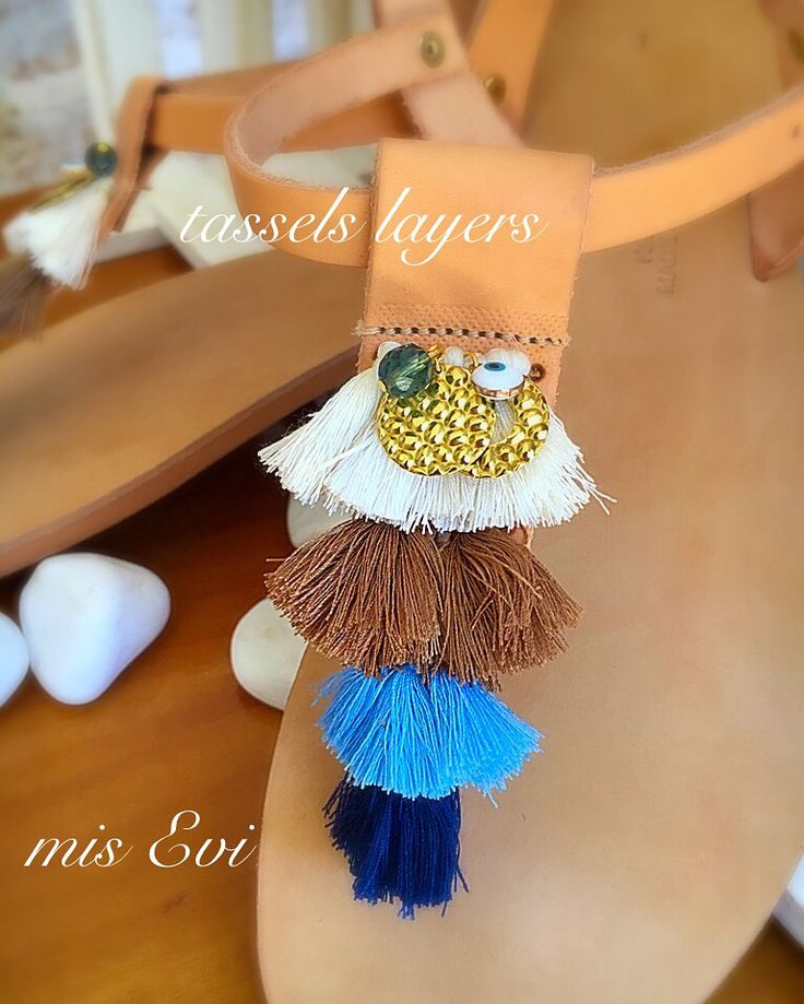 Tassels layers!!!!! Handmade leather sandals
