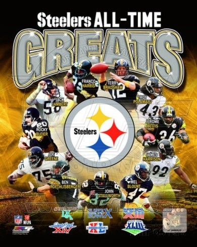 Pittsburgh Steelers All Time Greats Composite Photo at AllPosters.com