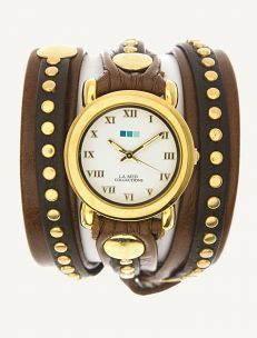 Brown-Gold Bali Wrap Watch